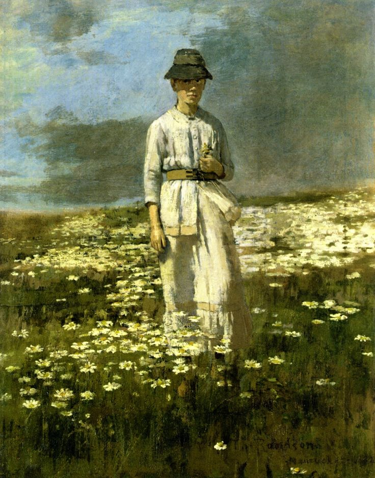 Daisy Field Nantucket Painting by Theodore Robinson | Oil Painting