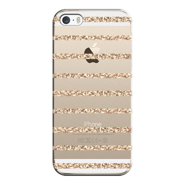 iPhone 6 Plus/6/5/5s/5c Case - GATSBY GOLD GLITTER STRIPE PARTY... (575 MXN) ❤ liked on Polyvore featuring accessories, tech accessories, phones, electronics, iphone, tech, iphone case, gold glitter iphone case, iphone cover case and iphone cases