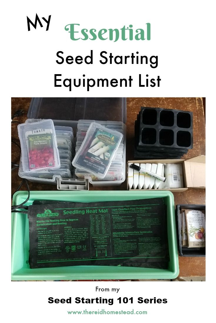 Seed Starting Equipment List from my Seed Starting 101 Guide. Learn how to start your own seed successfully indoors to build the garden of your dreams!