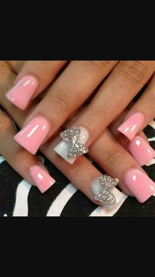166 best nails images on pinterest acrylic nail art nail pink and white nails prinsesfo Images