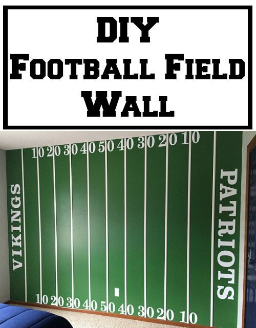 DIY Football Field Wall - Lemons, Lavender, & Laundry