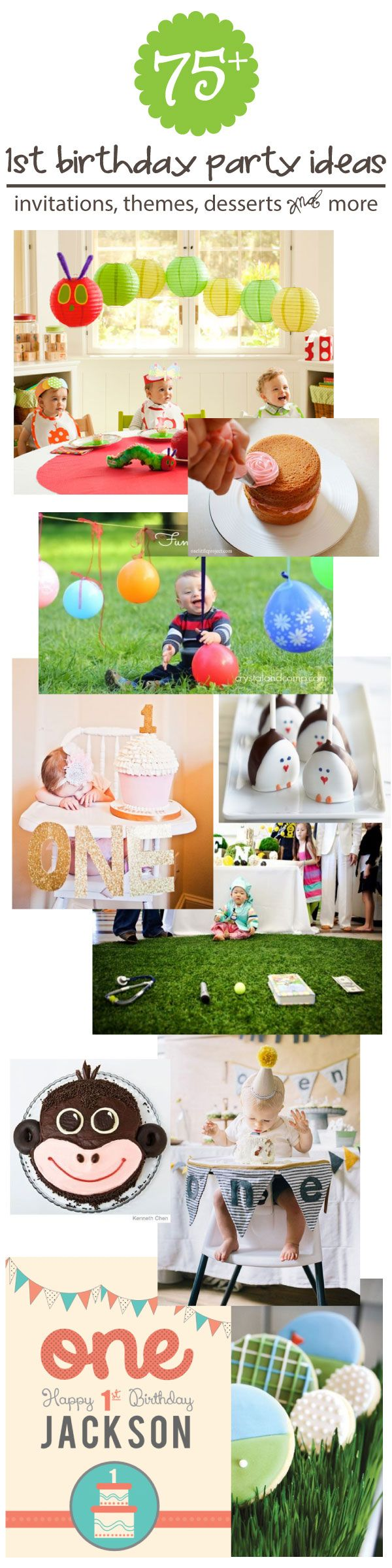 75+ First Birthday Party Ideas, Themes, Games and More!   www.signs.com #birthdays