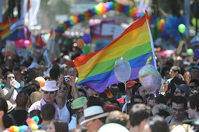 Tel Aviv celebrates gay pride with annual parade (08/06/2012). Tens of thousands participate in annual procession celebrating Israel's LGBT community.