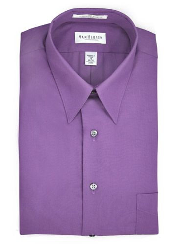 Van Heusen Purple Dress Shirt, Dahlia