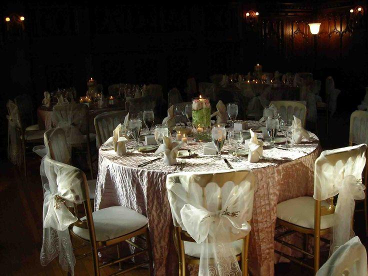 New brown tablecloth wedding at temasistemi.net