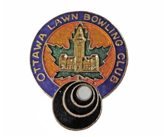 """OTTAWA LAWN BOWLING CLUb vintage lapel cloisonne enamel pin slogan Canada by VintageTrafficUSA  18.00 USD  A vintage lawn bowling pin Excellent condition. Measures: approx 1"""" Add inspiration to your handbag tie jacket backpack hat or wall. Have some individuality = some flair! -------------------------------------------- SECOND ITEM SHIPS FREE IN USA!!! LOW SHIPPING OUTSIDE USA!! VISIT MY STORE FOR MORE ITEMS!!! http://ift.tt/1PTGYrG FOLLOW ME ON FACEBOOK FOR SALE CODES AND UPDATES…"""