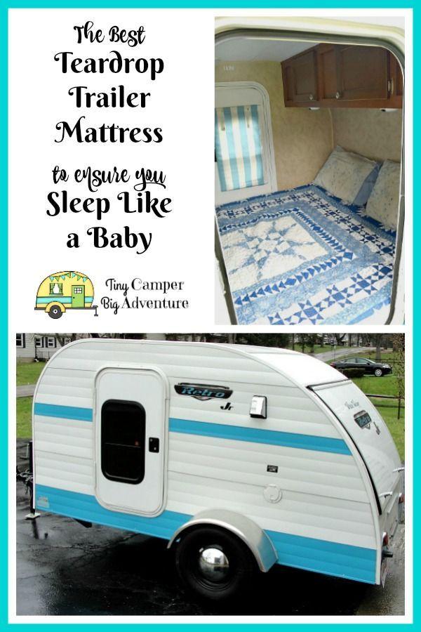 Teardrop Camper Camping Queen Mattress, Teardrop Trailer Queen Bed