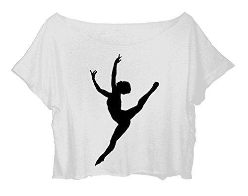 Women Crop Top Ballet Dance Shirt Pointe Ballet Dance Tshirt (white) http://www.amazon.com/dp/B015EH55WG/ref=cm_sw_r_pi_dp_tid-vb0JK6CQ1