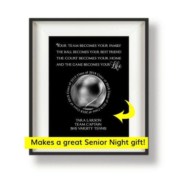 Tennis Senior Night Gift Tennis Coach Gifts Tennis Team Captain Gift Tennis Team Gifts 8 X 1 Senior Night Gifts Softball Team Gifts Team Gifts