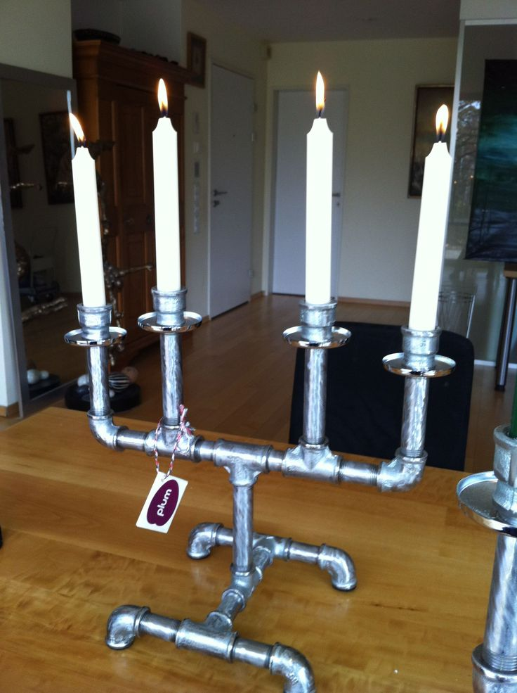 8 best images about candle holders on pinterest plumbing for Best pipes for plumbing