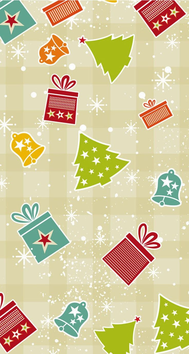 Tap image for more Christmas Wallpapers! Christmas background vector free - iPhone wallpapers @mobile9