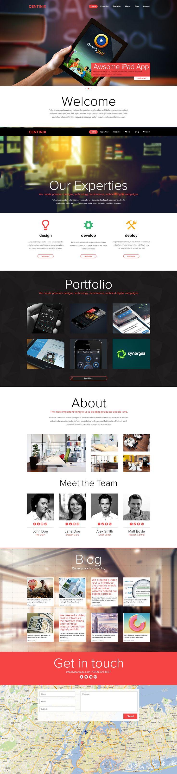 One Page Portfolio Website by ~Nas-wd on deviantART