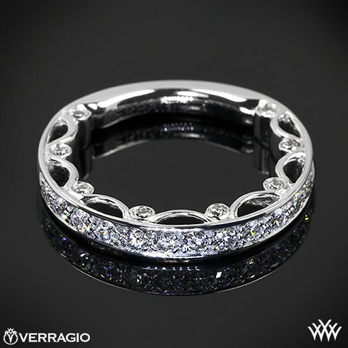 White Gold Verragio Pave Diamond Wedding Ring from the Verragio Paradiso Collection.