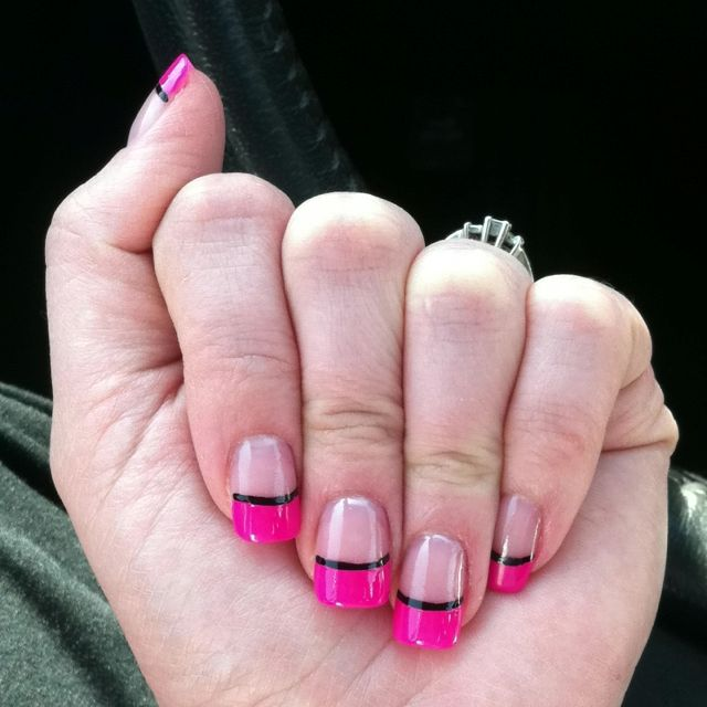 Hot pink and black.... for Mirandas wedding