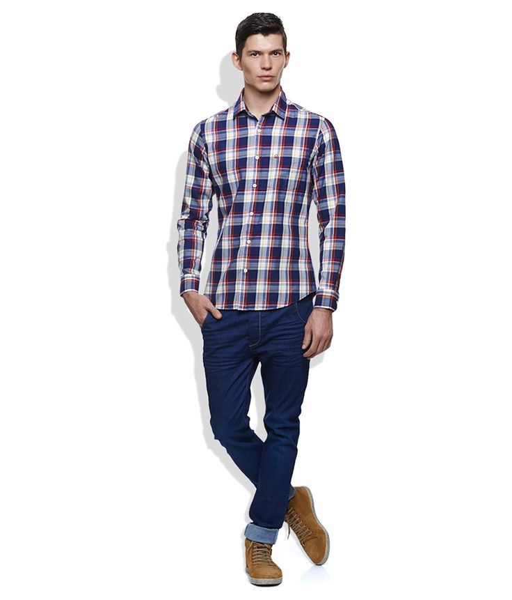 United Colors Of Benetton Blue Casual Shirt