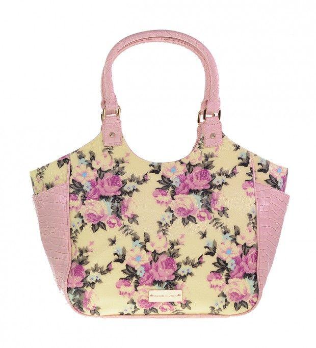 PARIS HILTON Yellow-Pink Handbag
