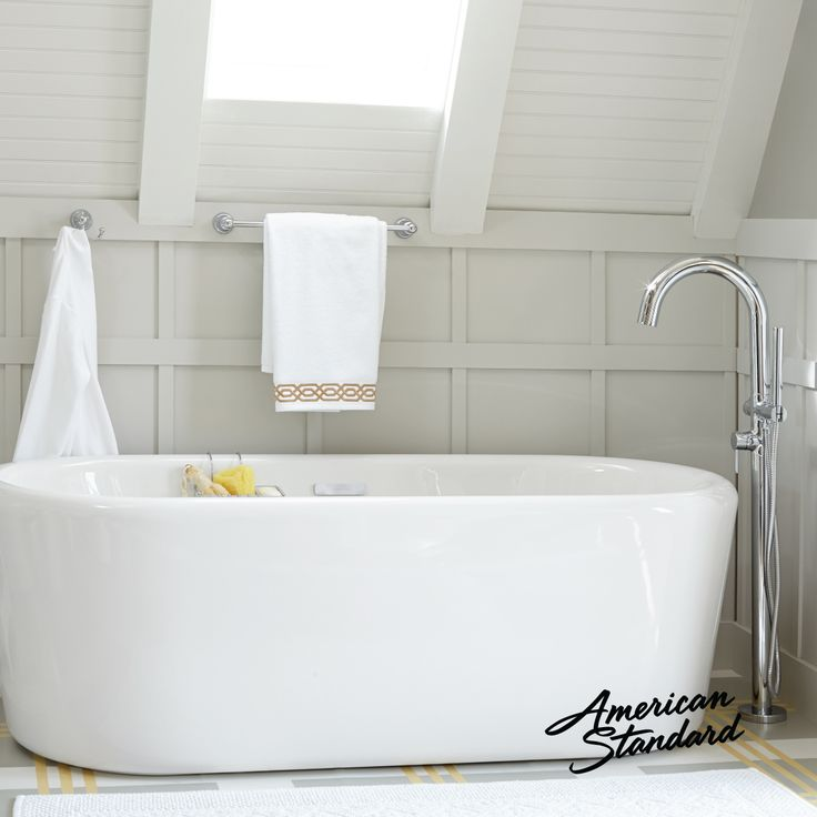 Freestanding Deep Soaking Tub. The Kipling Ovale freestanding bathtub from American Standard has a  spacious luxurious design that allows for spa like soaking and relaxation 8 best Contemporary Tubs Fillers images on Pinterest Bathtubs