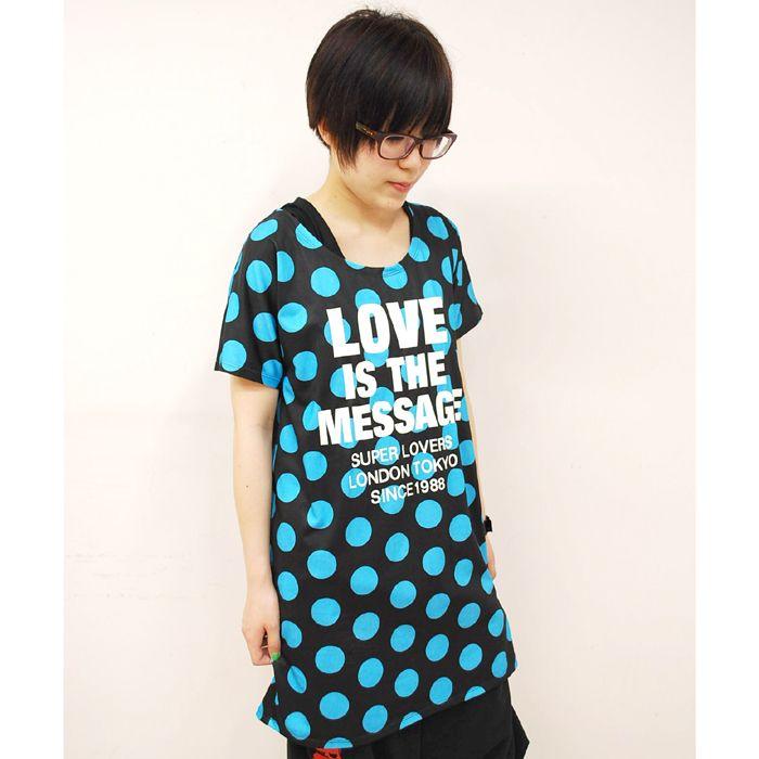 ネオンカラーが可愛い丈が長めのTシャツ。伸縮性もあり汗を吸ってくれるので夏にピッタリ!/水玉ロング丈Tシャツ(SUPER LOVERS)¥6,195-/ SUPER LOVERS金沢ベルセル店 TEL:076-261-5691/TATEMACHI SUMMER COLLECTION 2013