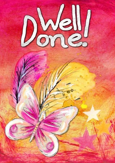 Well done Greeting Card Kids Free Digital Images Vintage, GIF and Clip Art - Artsy Bee Digital Images