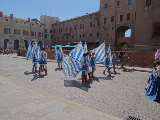 The Palio is a traditional horserace that has existed in Ferrara since 1279. It's typically held in May