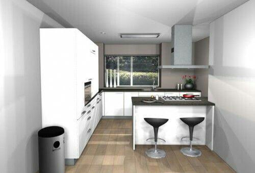 Afbeeldingsresultaat voor kookeiland kleine keuken