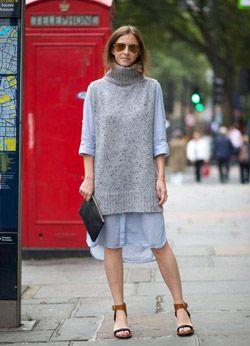 オーバーサイズのシャツと合わせてもGOOD◎ボトルネック ベストの着こなし・コーデ・スタイル・ファッション☆
