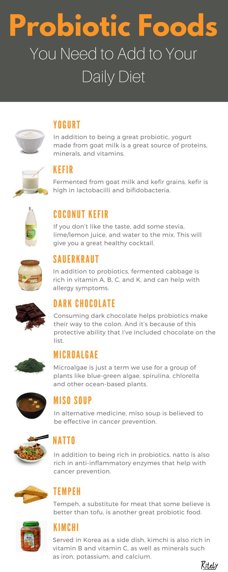 Consuming probiotic foods is great for your gut health. And if you didn't know, most diseases come from gut inflammation.