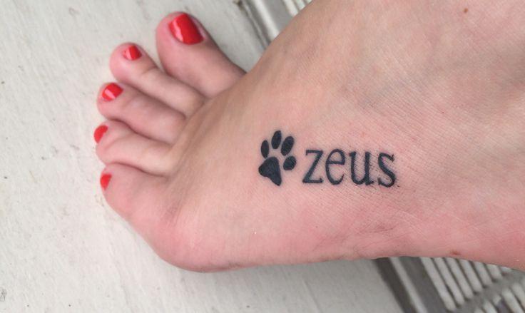 Paw Print Tattoo with my Doggies Name :-)