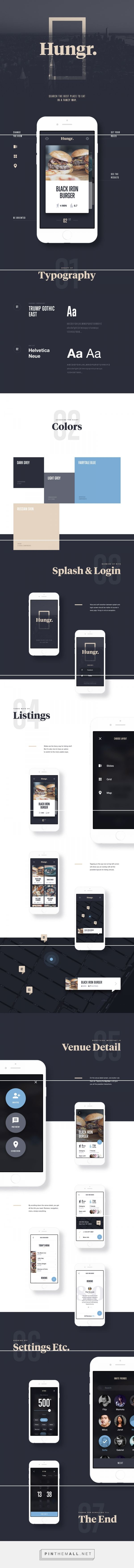 Hungr. iOS App on Behance... - a grouped images picture - Pin Them All