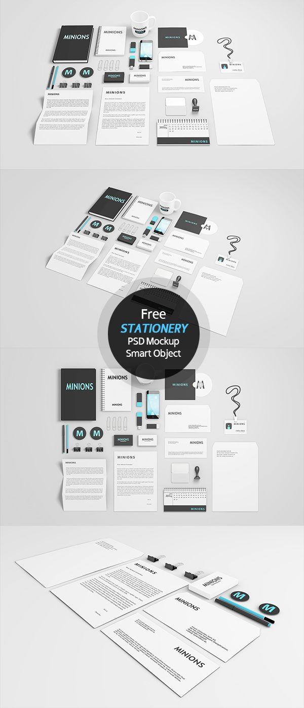 Free Stationery Mockup (Smart Object & Layered)