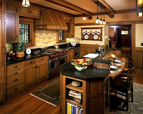 Mission Style Paint Schemes | Craftsman Style Kitchen Cabinets Image 781 Craftsman Style Kitchen ...