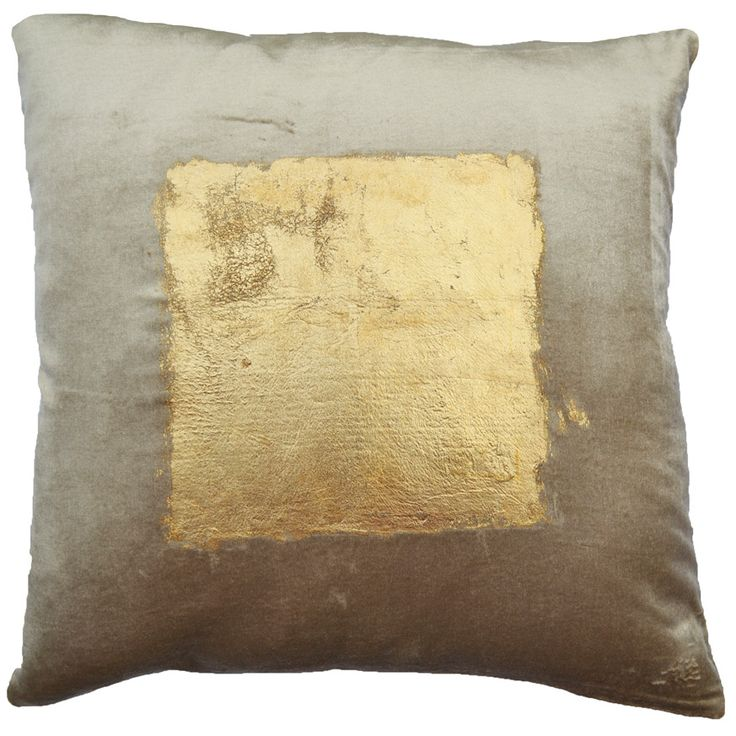 The Verona Gold Square Pillow is a