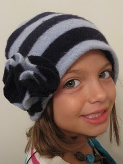 repurpose a sweater into a hat