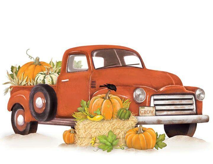Pumpkin Clipart truck 2 - 720 X 556 | Truck crafts, Fall ...