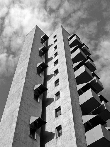 john hejduk, berlin tower, social housing 1988