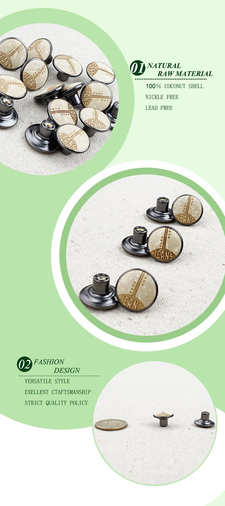Custom logo coconut jeans tack metal button, View tack button, Bios Product Details from Dongguan Bai Yeye Accessories Co., Ltd. on Alibaba.com
