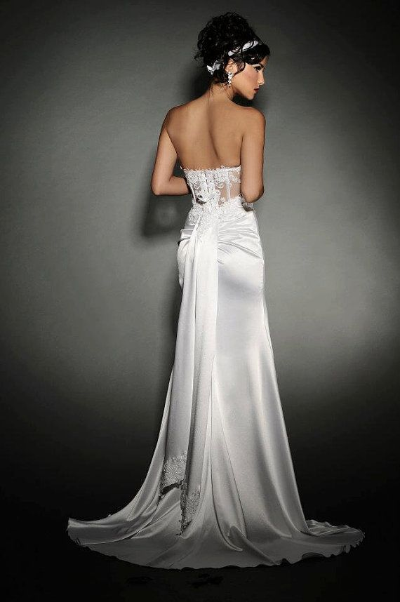 Strapless, Lace and a Corset- #5202