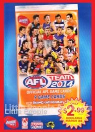 Share our page with your network and get 5% off your online purchase! 2014 TEAM COACH AFL TRADING CARDS 36 PACKETS BOX + ALBUM TEAMCOACH FOOTBALL FOOTY