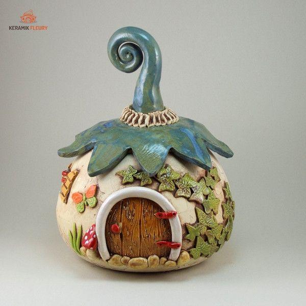 Wichtel - Strickhaus Garnschale von Keramik-Fleury auf DaWanda.com