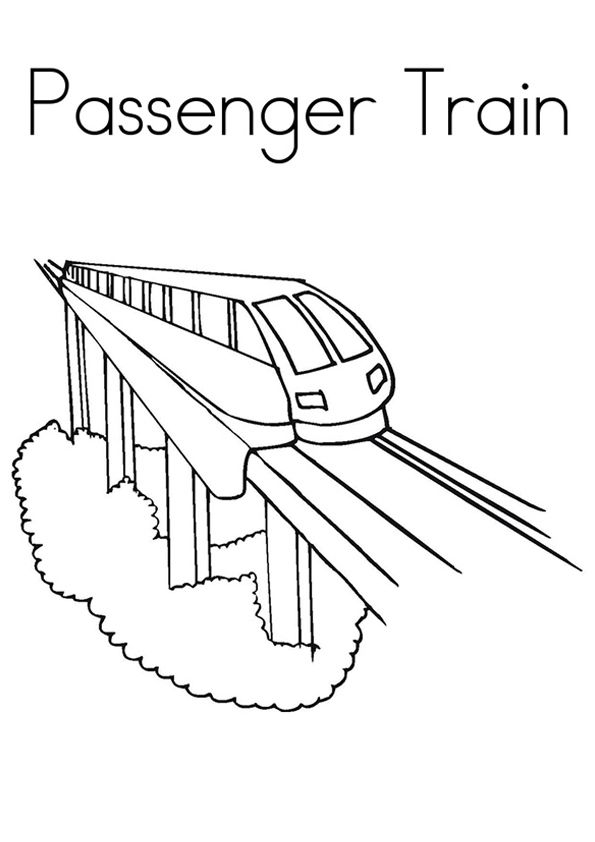 Passenger Train Train Coloring Pages Coloring Pages Train Drawing