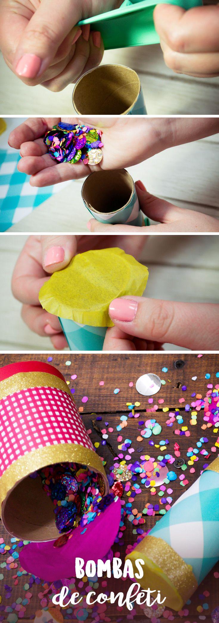Anima tus fiestas con estas bombas de confeti. Son muy fáciles de hacer y los puedes armar con el material que tienes en tu casa. Es una gran actividad para hacer con los niños. Son muy divertidos y serán un éxito en todas tus fiestas.