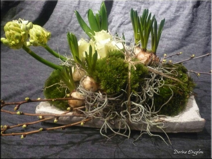 Spring Bulbs Arrangement ~ Natural composition
