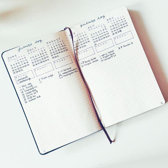 Cómo configurar tu Bullet Journal