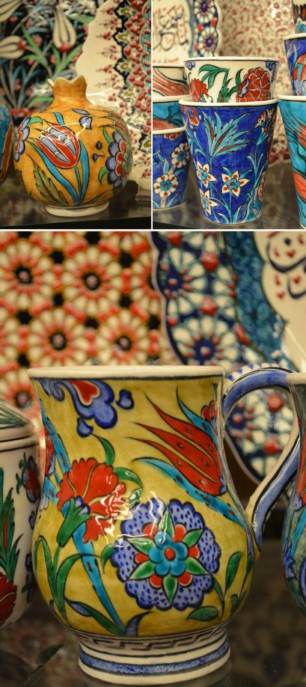 Turkish Iznik Ceramics from Istanbul Turkey Spice Bazaar from BigBrightBold