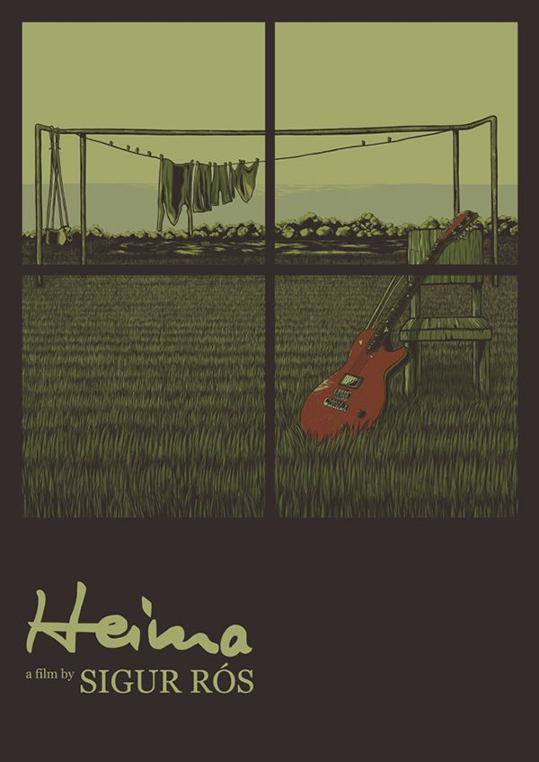 First attempt on movie/film #poster #illustration. A tribute to one of inspirational films, #Heima by #SigurRos