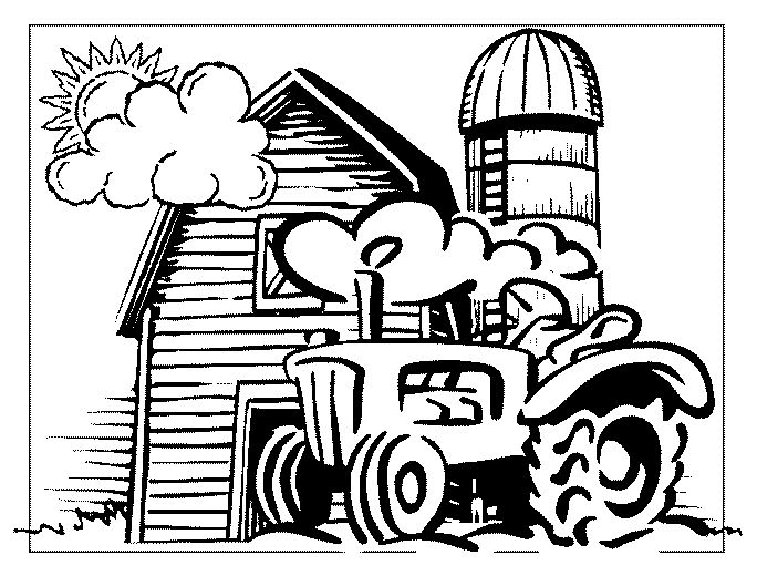 john deere christmas coloring pages - photo#5