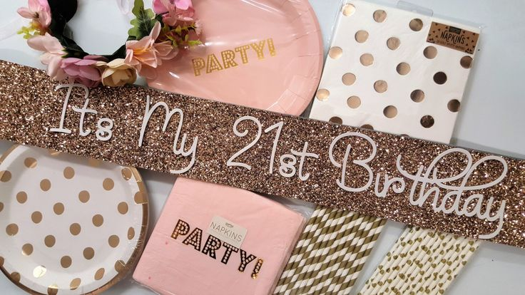 A personal favourite from my Etsy shop https://www.etsy.com/uk/listing/453579070/21st-birthday-party-pack-glitter-sash