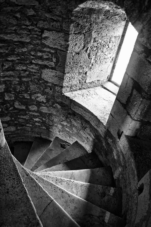 Stone Spiral Staircase Photograph by Georgia Fowler