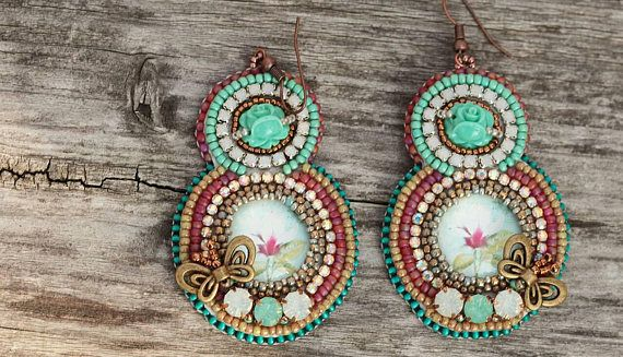 Check out this item in my Etsy shop https://www.etsy.com/listing/557290098/colorful-floral-earrings-bead