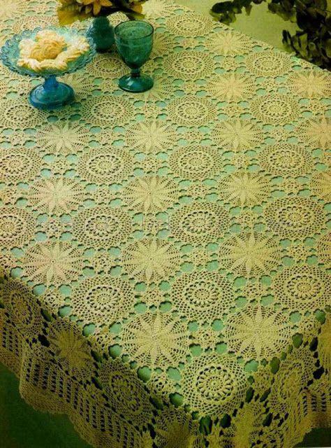 Toalha De Mesa Em Crochê | High-Art Tablecloth